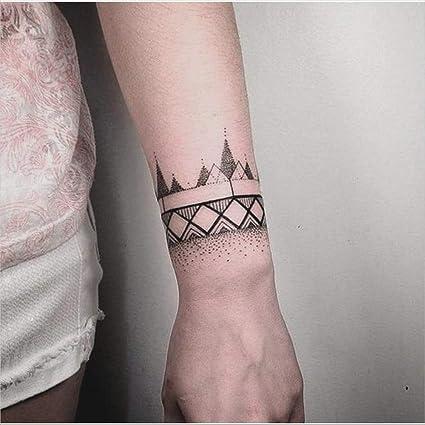 Tatuajes temporales pulsera geométrica para hombre y mujer ...