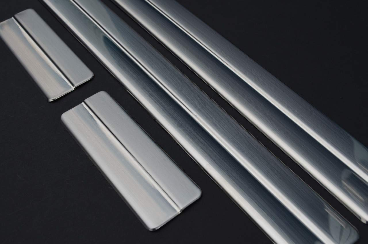 2009-17 Chrome Door Sill Trim Covers Scuff Protectors Set To Fit Fiesta
