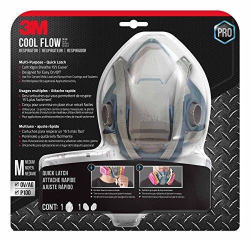 - 3M 65023QLHA1C-PS Pro MultiPurpose Respirator with Quick Latch, Medium