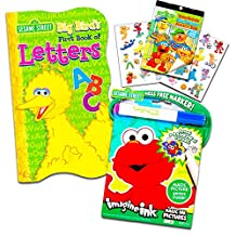 Sesame Street Elmo ABC Book Super Set with Stickers, Imagine Ink Book and Mess Free Marker