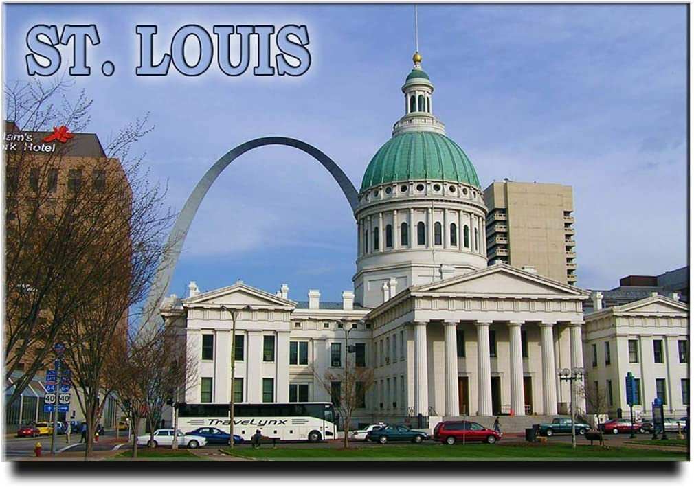 St. Louis Gateway Arch Fridge Magnet STL Missouri Travel Souvenir