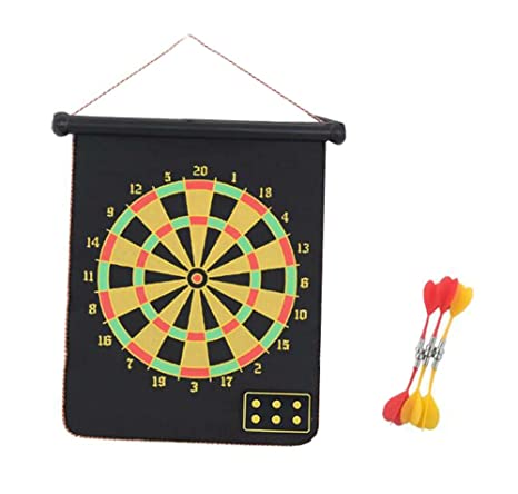 Bon Mini Magnetic Desktop Dart Board With 2 Magnetic Darts Office Desk Toys,C
