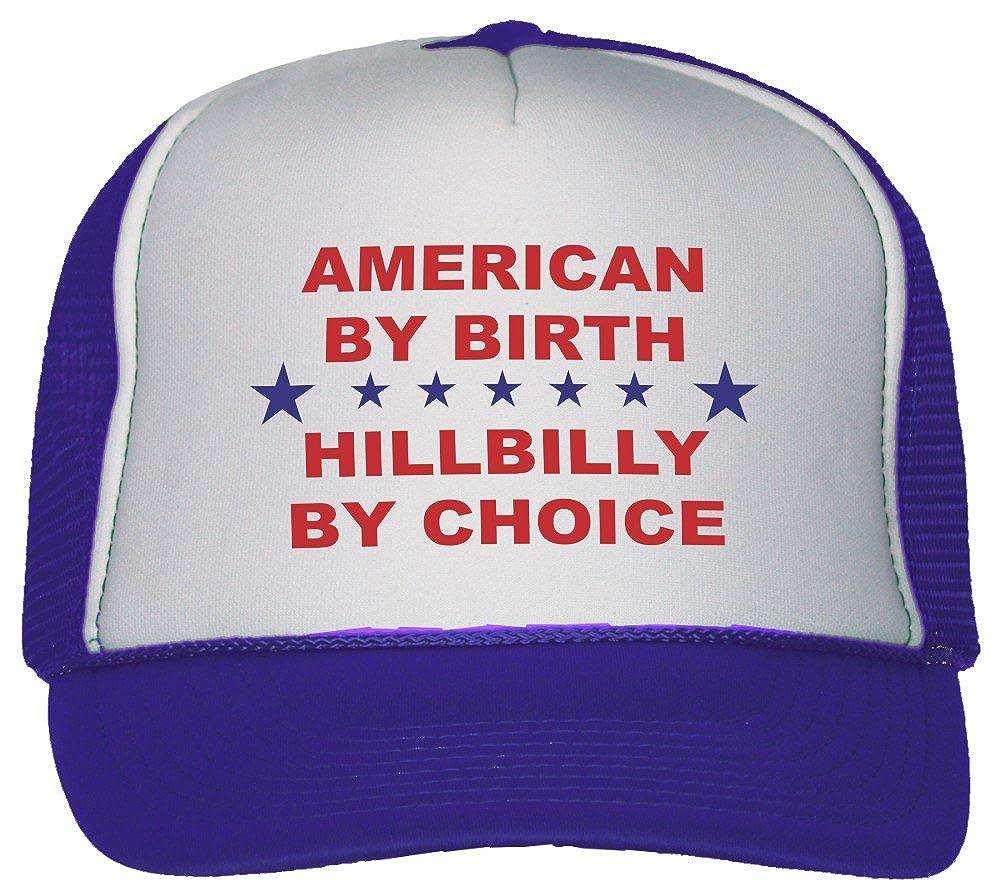 Amazon.com: American By Birth Hillbilly By Choice Trucker Hat Cap Black: Clothing