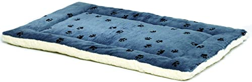 MidWest Homes for Pets Reversible Paw Print Pet Bed in Blue White, Dog Bed Measures