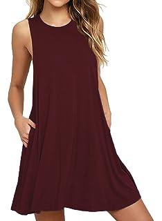 79ac09d0ede39f Chigant Damen Gestreift Jerseykleid Oversize Longshirt mit Rundhals ...