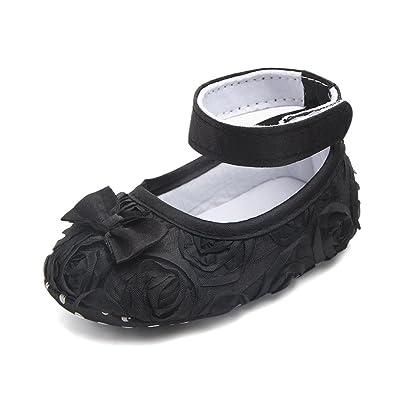 Amazon.com: Zapatos de bebé para bautizo, diseño de rosas ...