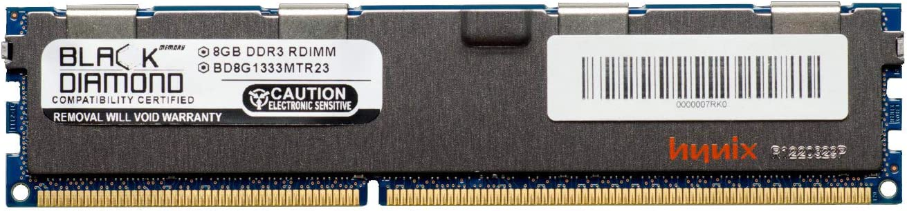 8GB RAM Memory for Compaq HP Z Series Workstations Z620 Workstation Black Diamond Memory Module DDR3 ECC Registered RDIMM 240pin PC3-10600 1333MHz Upgrade