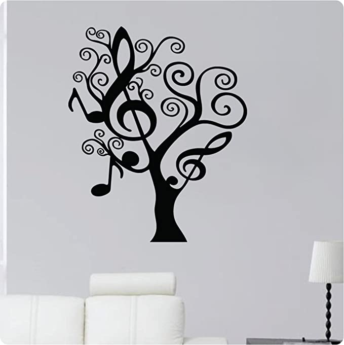 28 Music Note Tree Shape Treble Clef Wall Decal Sticker Art Home Décor Home Kitchen