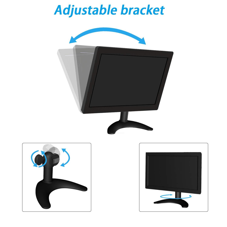 Home Security CCTV IPS TFT Full HD Schermo Portatile HDMI//VGA//AV Monitor per Raspberry Rear View 1024 * 600 Monitor per Videosorveglianza Quimat Monitor HD da 10.1 Pollici QSC101