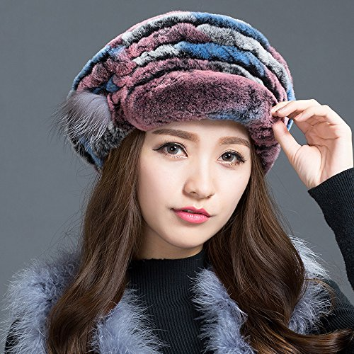 Wuyulunbi@ Ladies Winter Hat Beret warm earmuffs thickened peaked cap,K For Christmas Present