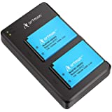 Artman 2-Pack LP-E17 Batteries and Rapid Dual USB Charger for Canon EOS RP, Rebel T8i, T7i, T6i, T6s, SL2, SL3, EOS M3, M5, M