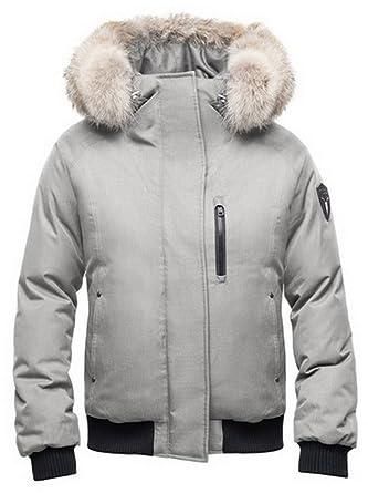 Nobis Ladies Bomber Jacket MOLLY-Crosshatch Light Grey at Amazon Women's  Coats Shop