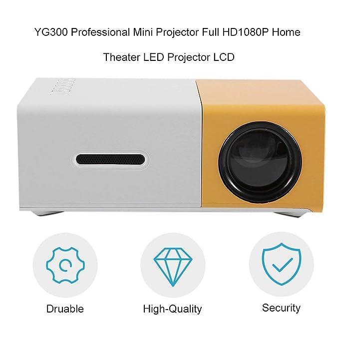 Ballylelly Mini proyector profesional YG300 Full HD1080P ...