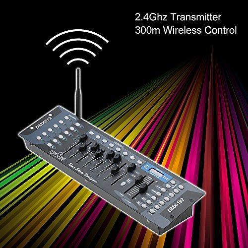 Tomshine 192 Channels DMX 512 Stage Lighting Controller - Wireless Transmitter - Metal Housing