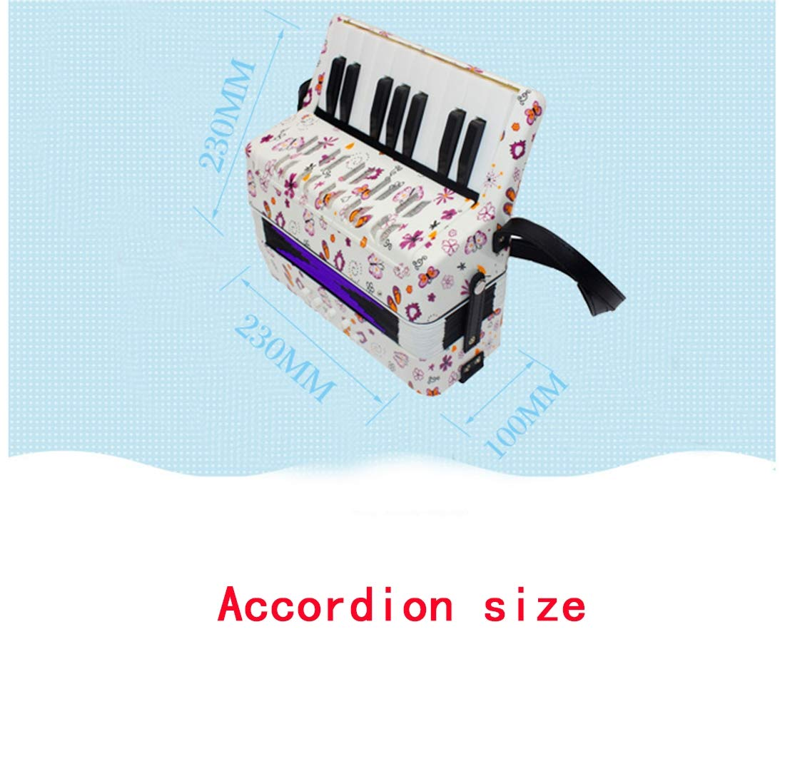 SFQNPA Heart-Shaped Children's Amateur Beginner Mini 17-Key 8 Bass Accordion Educational Instrument Toy Kids Piano Percussion Accordion Musical Toy,Green by SFQNPA (Image #2)