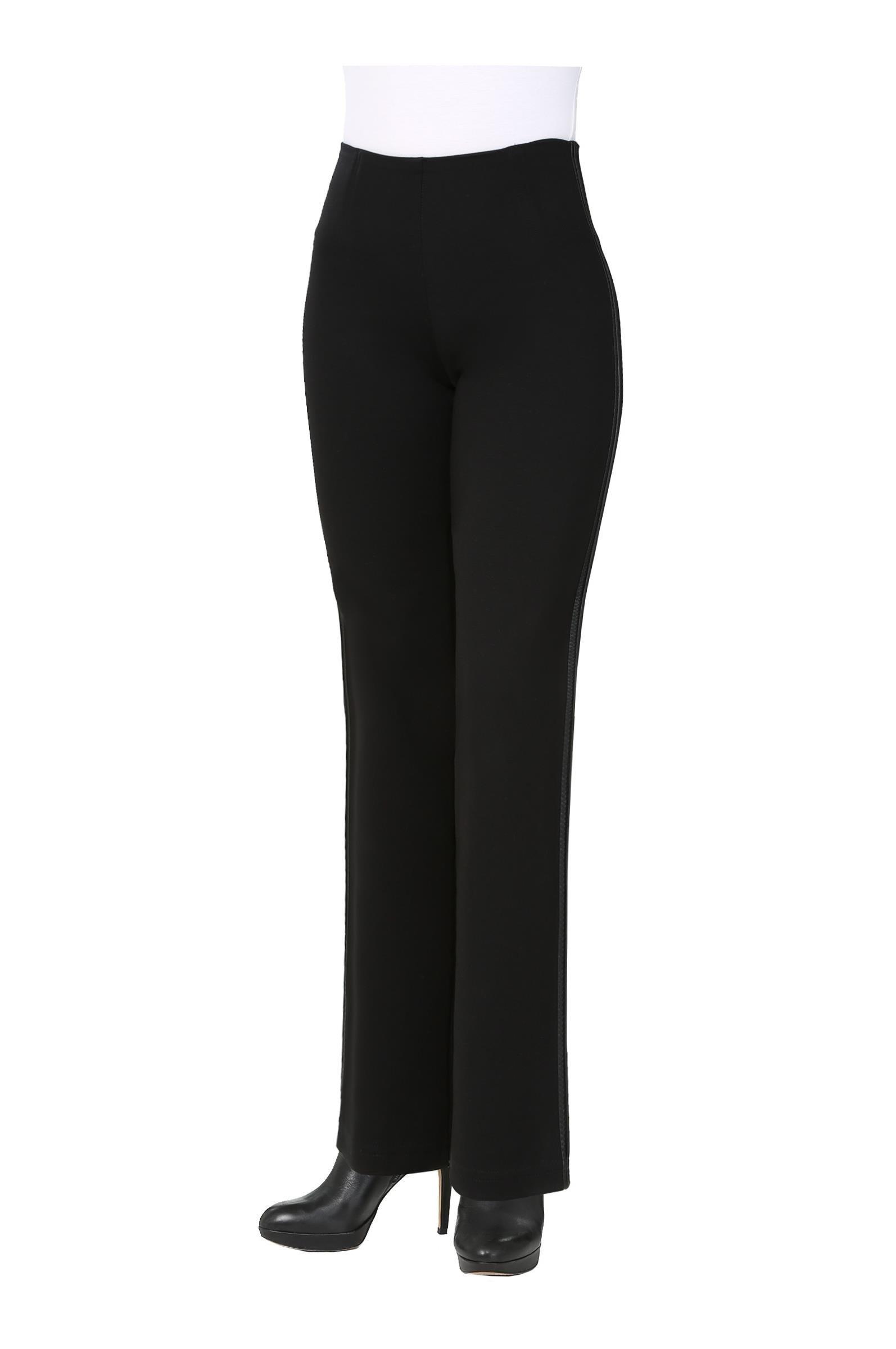 Nygard Women's Petite Slims 3.5 Straight Tuxedo Black