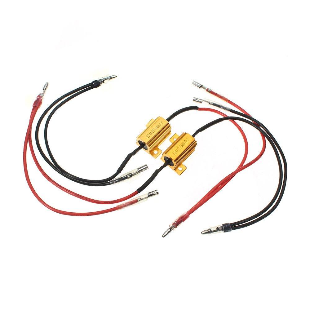 CARCHET® 2pcs Résistances 25W 8ohm pour Clignotant LED Voiture Moto DC 12V Ebuyfrmart BL296