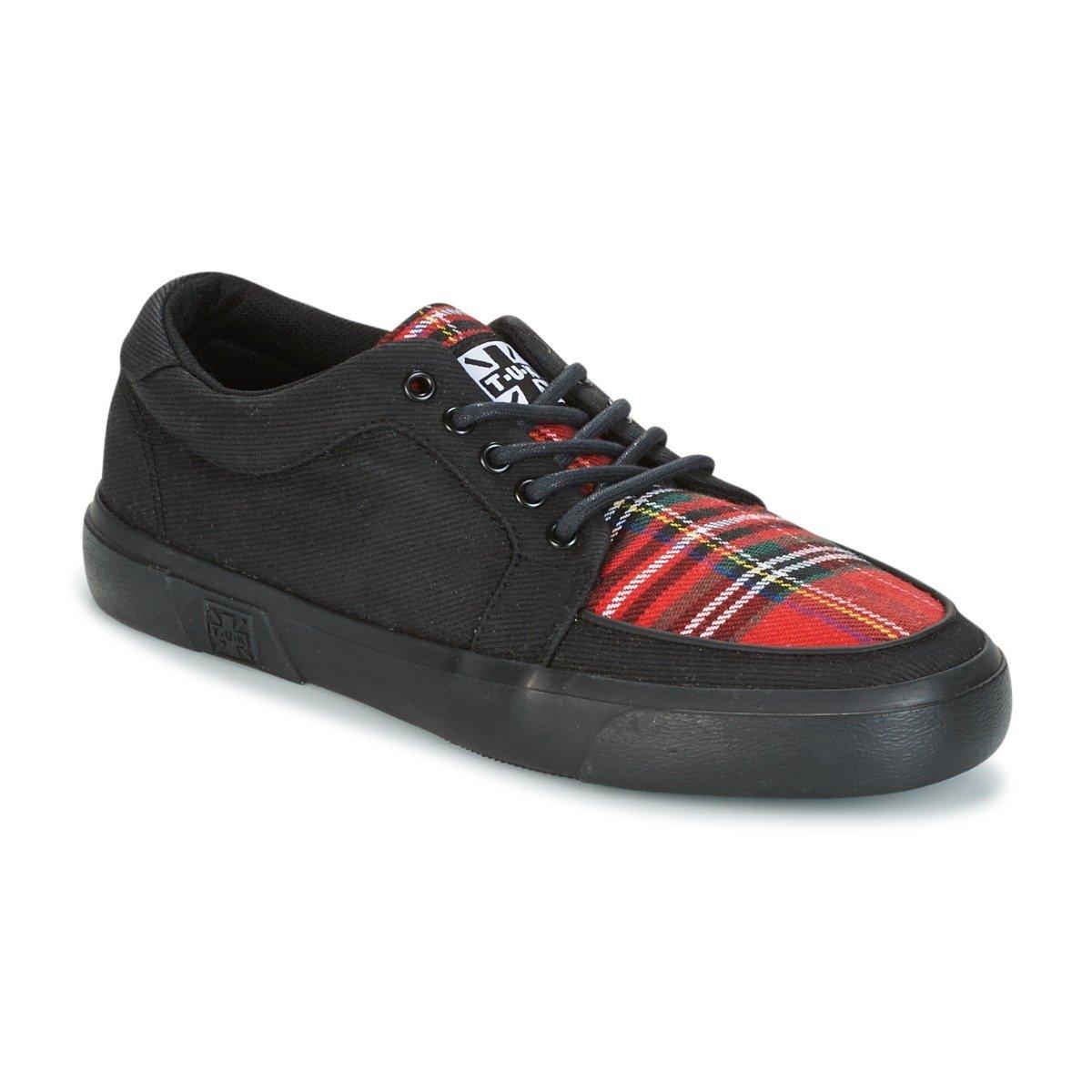T.U.K. Shoes Black & Tartan Canvas VLK Creeper Sneaker - Click Image to Close