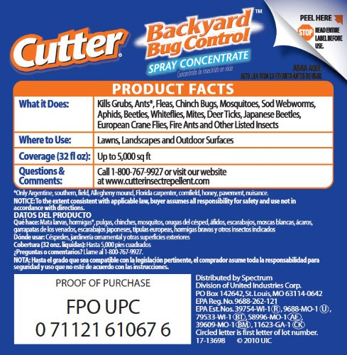 Cutter Backyard Bug Control Spray Concentrate (HG-61067 ...