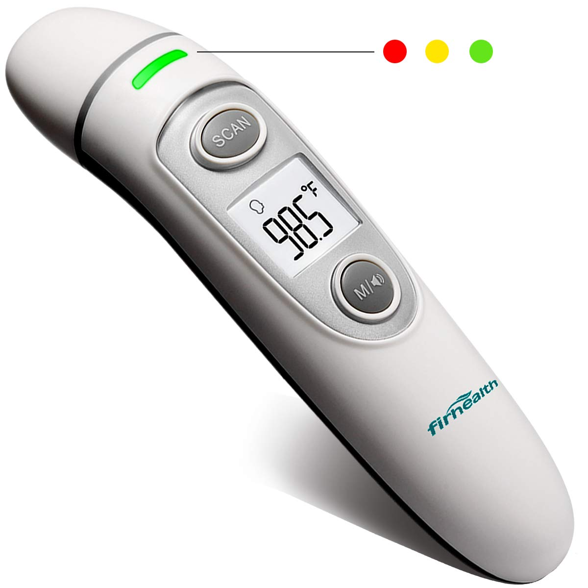 Digital Infrared Baby Thermometer, Firhealth Ear Forehead Object Room Professional 4 in 1, Accurate Fever Indicator Instant Read,Suitable for Baby, Adult, Object and Ambient, FDA CE Approved