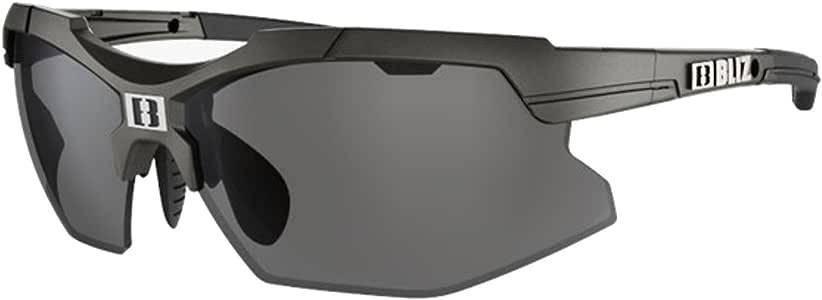 Amazon.com: Bliz Force Sunglasses Black/smoke W Silver