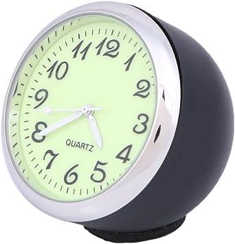Anki Car Dashboard Clock Table Classic Small Round Analog Quartz Clock,High and Low Temperature Resistance Black