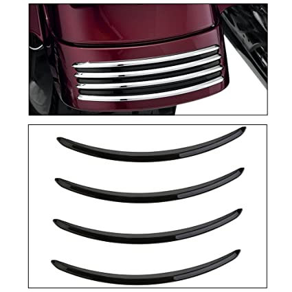 ECLEAR Chrome Rear Fender Accents For Harley Street Glides FLHX Road Glide
