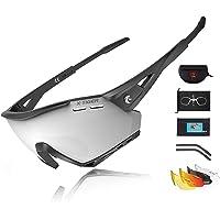 X-TIGER Gafas Ciclismo CE Certificación Polarizadas con 5 Lentes Intercambiables UV…