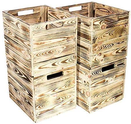 Kontorei® Flameadas/Tostadas Caja de Madera para Kallax Estantería Von IKEA 33cm 37,5cm 32,5cm 2er 3er 4er 6er 8 9 12 Set Caja de Fruta Caja,Embalaje: Amazon.es: Hogar