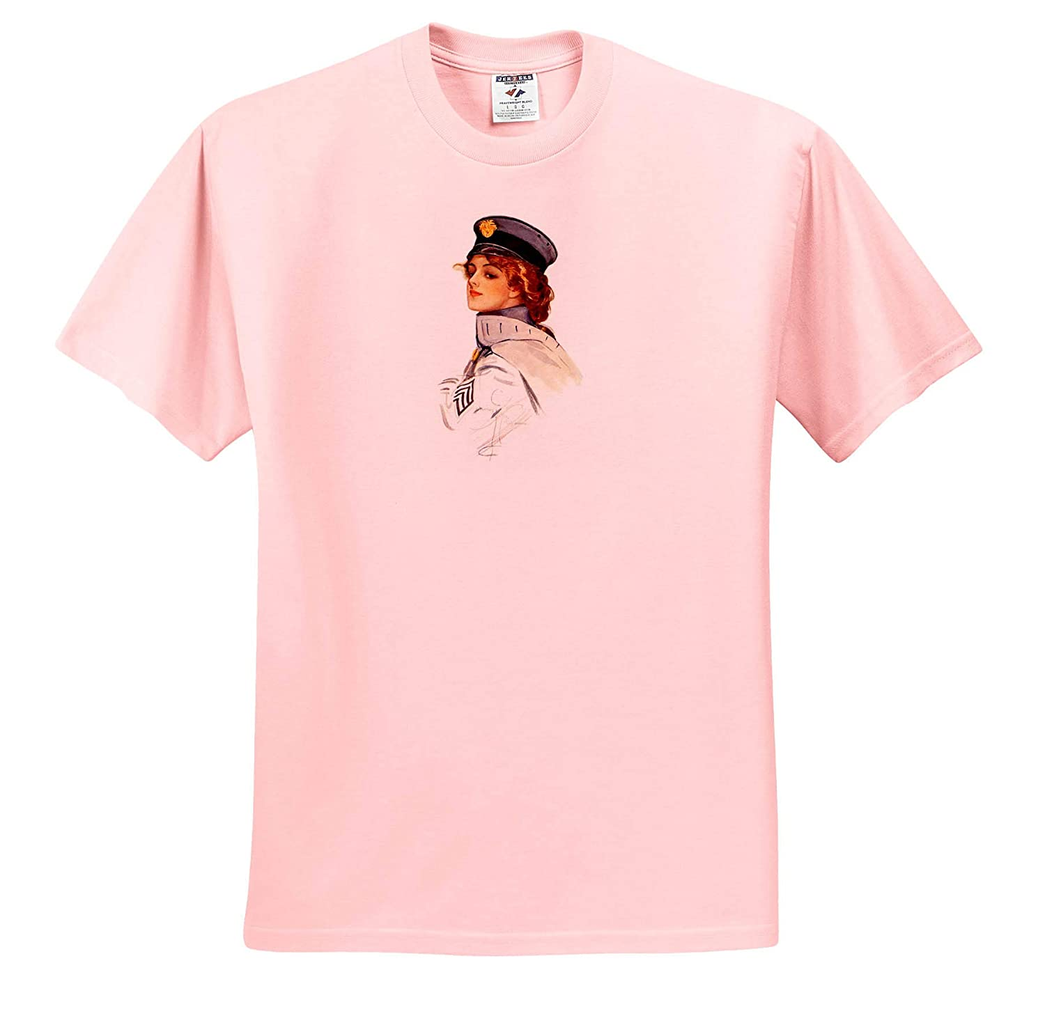 Harrison Fisher T-Shirts 3dRose VintageChest Harrison Fisher Air Force Girl