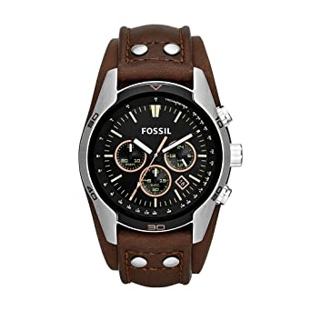 watch leather jacqueline ca date light watches amazon s brown women womens dp fossil