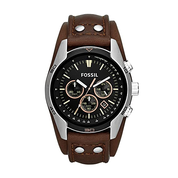 e22093b6ba7e Fossil Men s CH2891 Coachman Chronograph Brown Leather Watch  Fossil ...