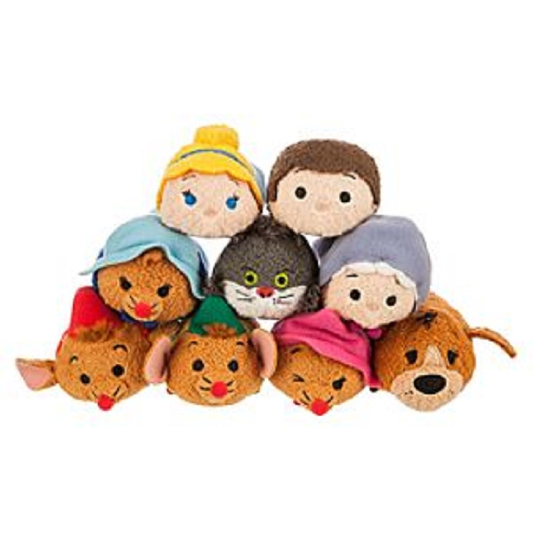 Disney - Cinderella Tsum Tsum Mini Plush Collection - Set of 9 - NEW by Disney: Amazon.es: Juguetes y juegos