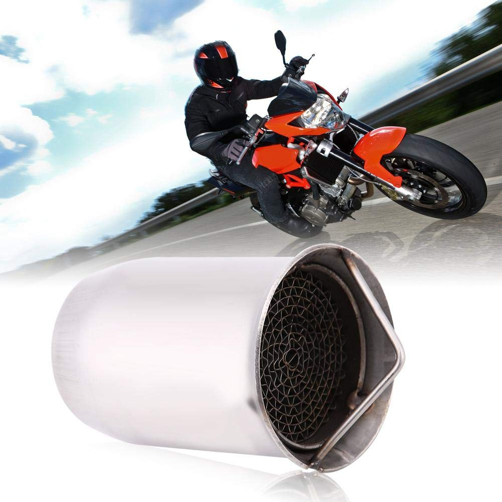 style 3 Universal 51mm Motorcycle Exhaust Pipe Muffler Exhaust Silencer Pipe Tips Noise Eliminator Motorcycle Exhaust Tips Exhaust Silencer