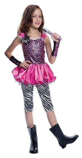 Karneval Klamotten Rockstar Madchen Kostum Popstar Madchen Kinder