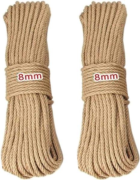 Cuerda de Cáñamo, 8mm cordel de yute natural vintage de ...
