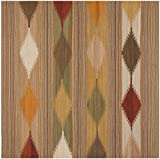 Safavieh Navajo Kilim Collection NVK175A Hand-Woven Natural and Multi Flatweave Wool Area Rug (5′ Square) Review