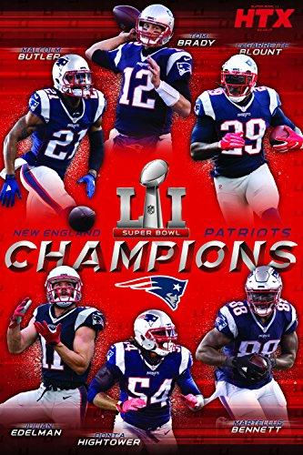 Trends International RP15138 Collector's Edition Wall Poster Super Bowl Li Champions Ne Patriots, 24 x 36
