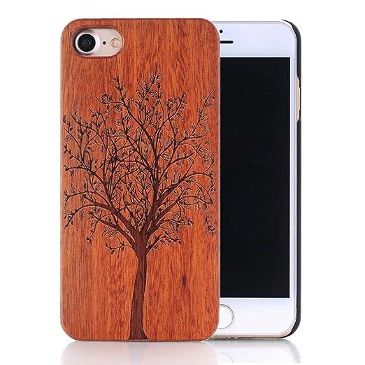 10 opinioni per Cover iphone 8, Custodia iphone 7, Sunroyal Custodia Case Cover di legno Bambù