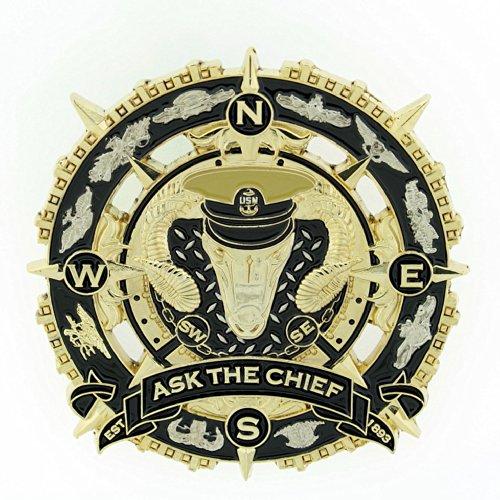 CPO CHIEF Male Compass Coin
