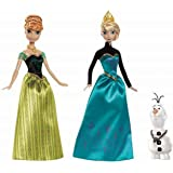 Disney Frozen Royal Sisters Gift Set, Includes Olaf, Anna and Elsa