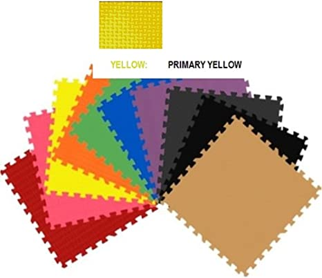 192 sqft yellow interlocking foam floor puzzle tiles mat puzzle mat flooring