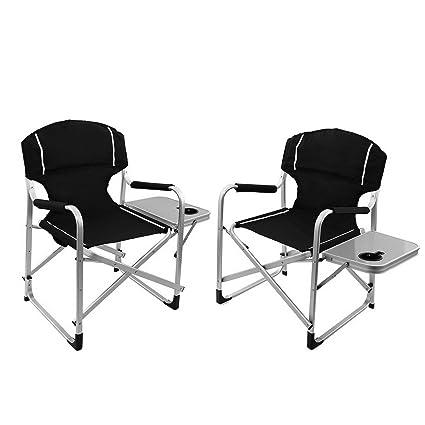 Super Amazon Com Kaputar 2Pc Folding Directors Chair Aluminum Ibusinesslaw Wood Chair Design Ideas Ibusinesslaworg