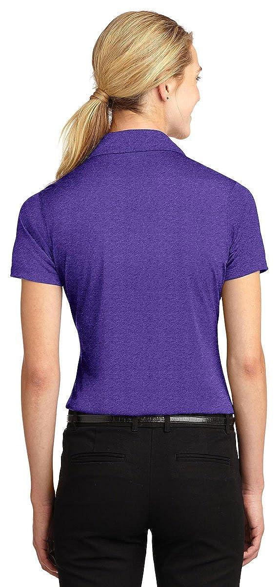 Sport Tek Womens Heather Contender Polo Shirt/_Vnt He//Purple/_X-Small