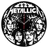 Cheap Metallica Vinyl Clock Record Wall Clock Fan Art Handmade Decor Unique Decorative Vinyl Clock12″ (30 cm) #2