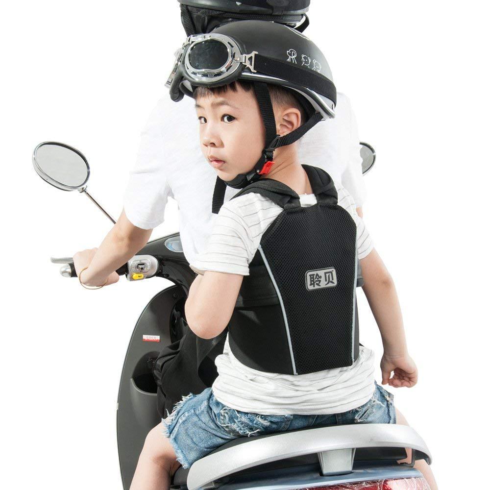 Children Motorcycle Safety Seats Belt Harness for Riding Horseback Snow Child ATV Ride Strap - Kids Electric Vehicle Adjustable Safety Harness Strap,Black