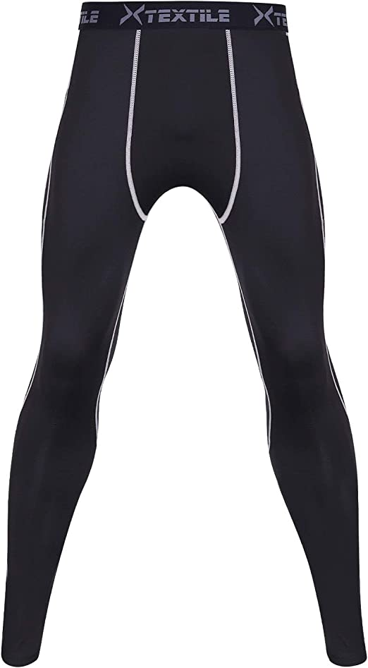 White Camo Men Compression Pants Base Layer Skin Tights Running Workout Trousers