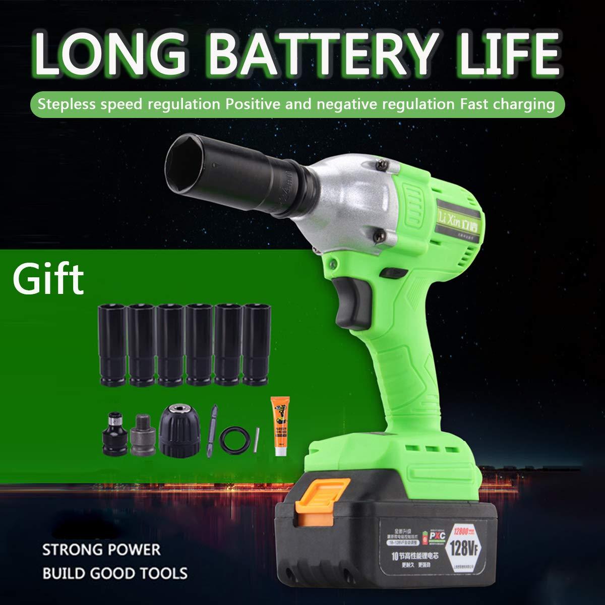 4000 mAh Cl/é /à choc sans fil 1//2 pouce Cl/é /à choc pour batterie de pilote compacte 1//2 pouce Pistolet /à choc portatif 20V Outil /à impact /électrique
