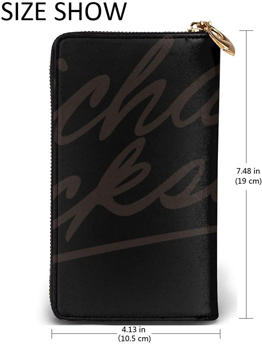 Waterproof Lightweight Luxurious Soft Inner Fabric Leather Wallet Environmentally Friendly Michael/_Jackson/_Logo/_text Comfortable Durable