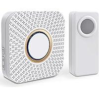 Comfort Door, Campainha sem Fio Pilha Luminoso Portão 100M Via Wireless, cor Branco